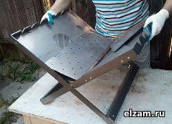 мангал книжка ТРИ-ИКСА макси черный метал 3 мм купить