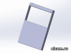 мангал книжка ТРИ-ИКСА микро черный метал 3 мм купить