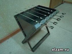 Раскладной мангал ТРИ-ИКСА бюджет черный металл 2 мм (ЧМх2х2)