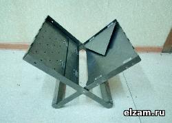 мангал книжка ТРИ-ИКСА мини черный метал 3 мм купить