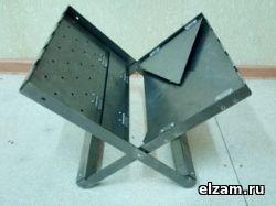 Мангал книжка ТРИ-ИКСА макси нержавеющая сталь 3 мм купить