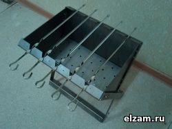 Раскладной мангал ТРИ-ИКСА бюджет нержавеющая сталь 3 мм (НСх2х2)